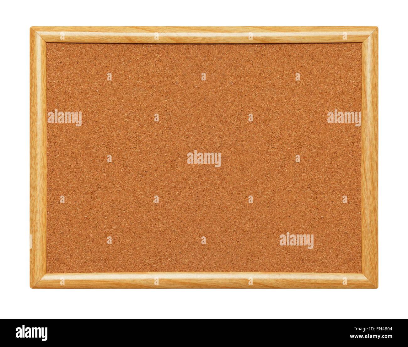 Leere gerahmt Holz Pinnwand isoliert auf einem weißen Hintergrund ...
