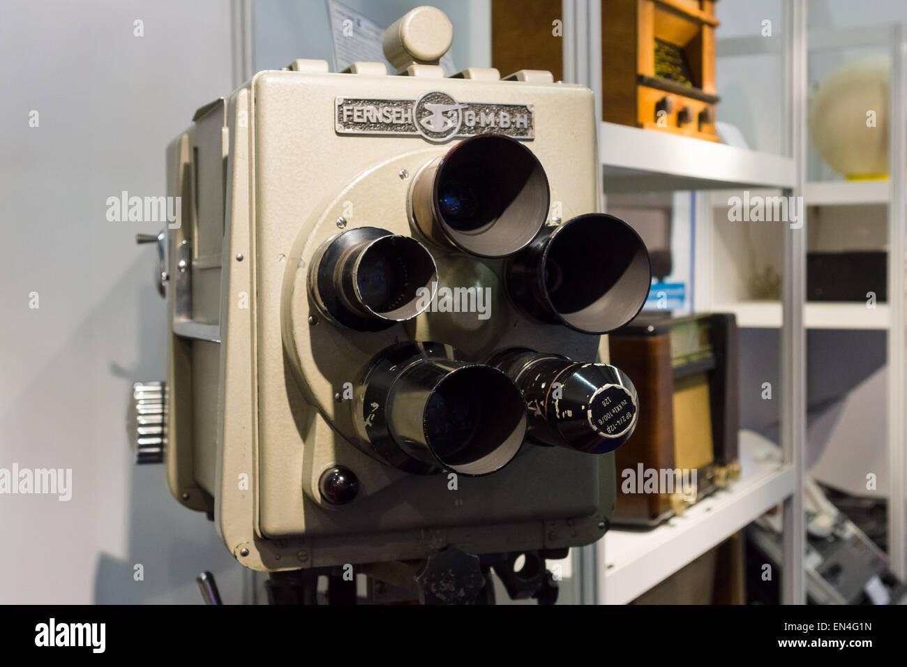 Fernseh GmbH, FS-Kamera Mit Rieselikonoskop, KK-Je 100 des KJA 125, 1957 Stockbild
