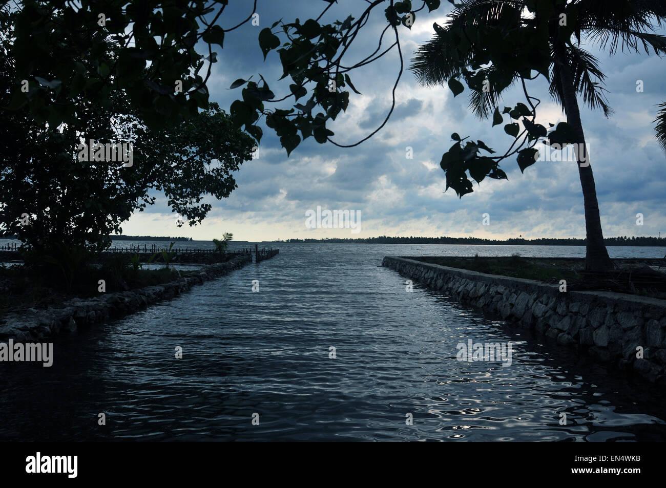 Wasser in Sicht. Stockbild