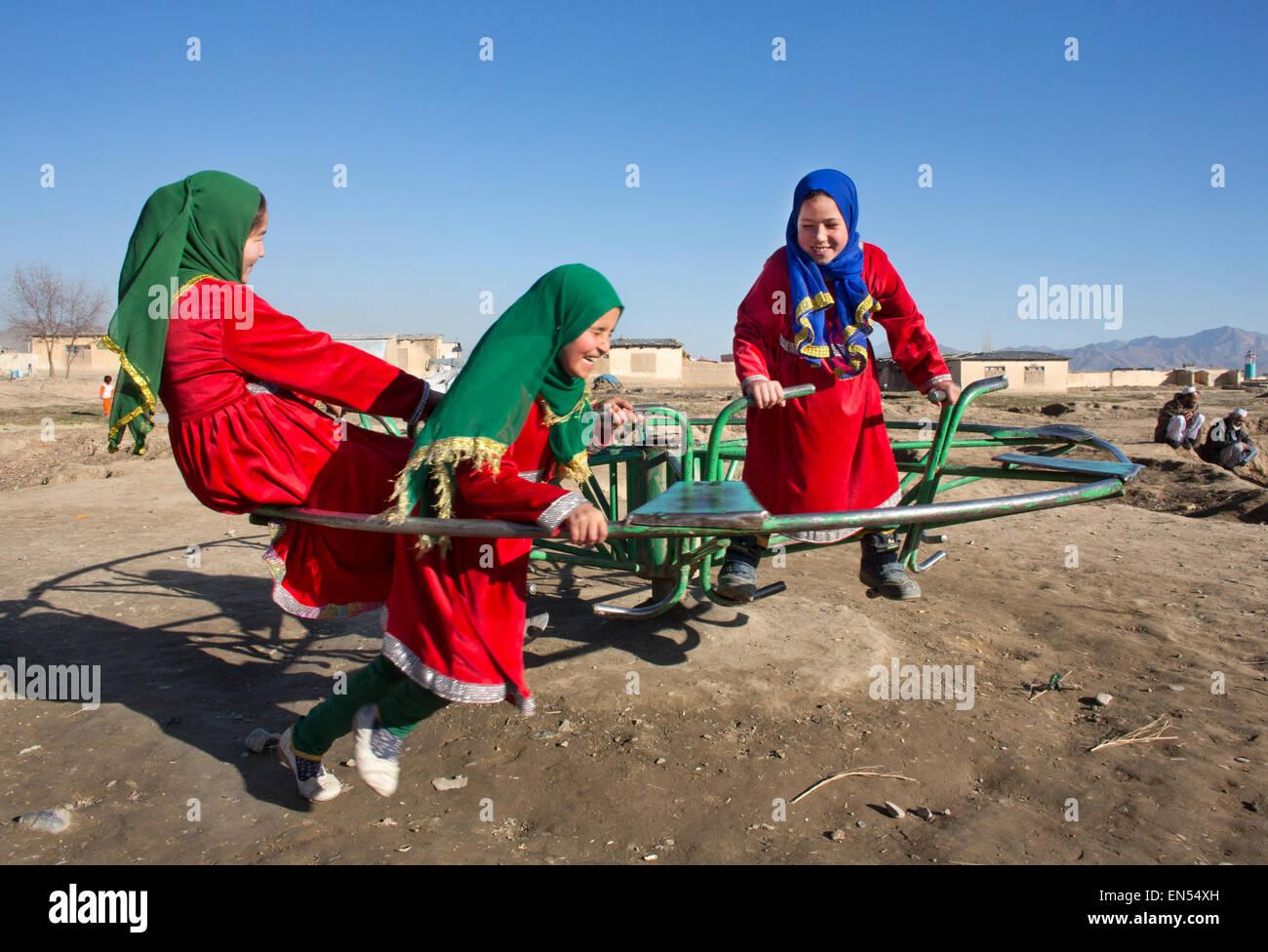 Studentinnen in Kabul Stockbild