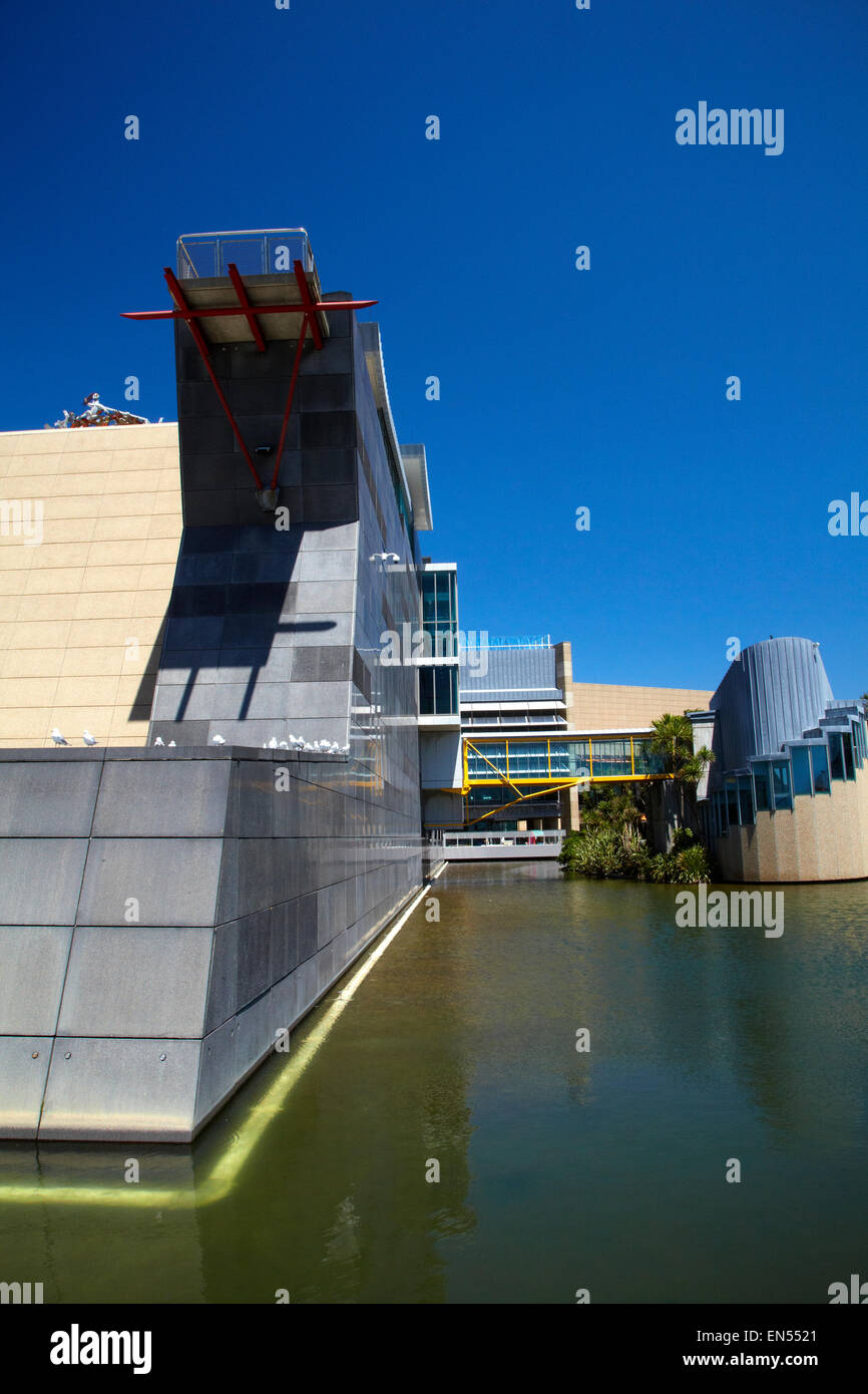 Te Papa Tongarewa Museum of New Zealand, Wellington, Nordinsel, Neuseeland Stockbild