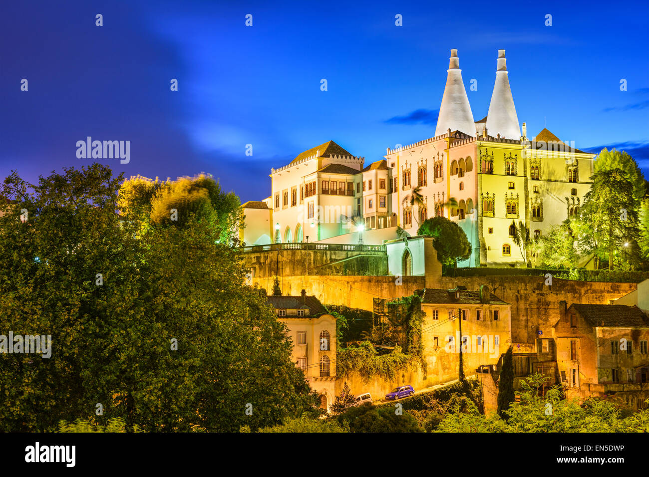 Sintra, Portugal im Nationalpalast von Sintra. Stockbild