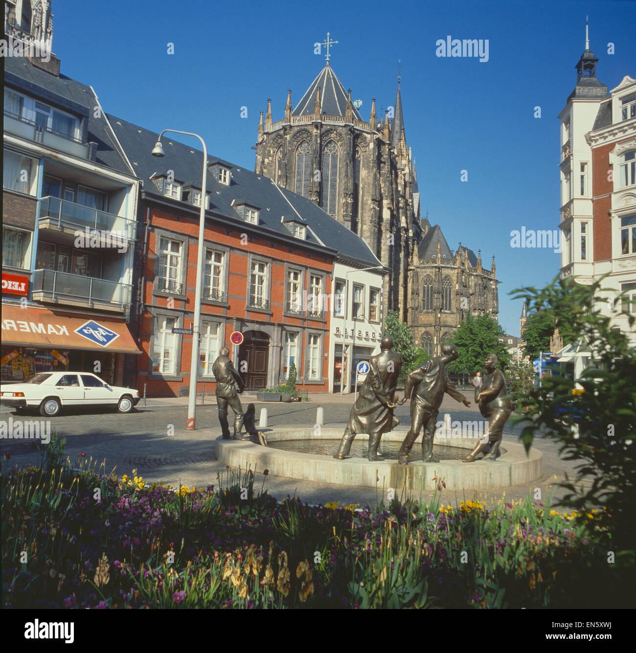 BRD, Aachen, Dom, Teilansicht Stockbild