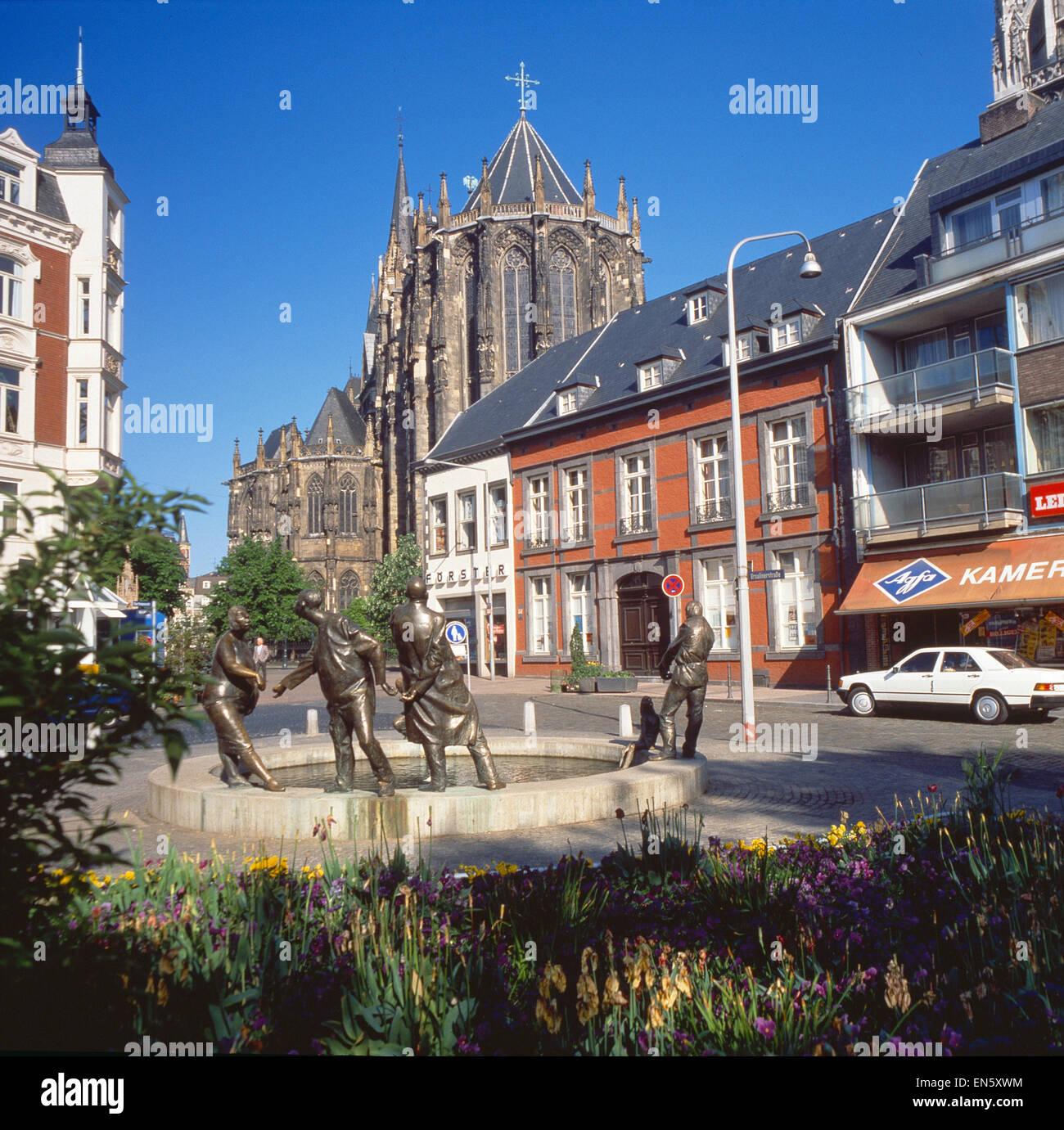 Deutschland, Nordrhein-Westfalen, Aachen, Aachen, Dom, Teilansicht Stockbild