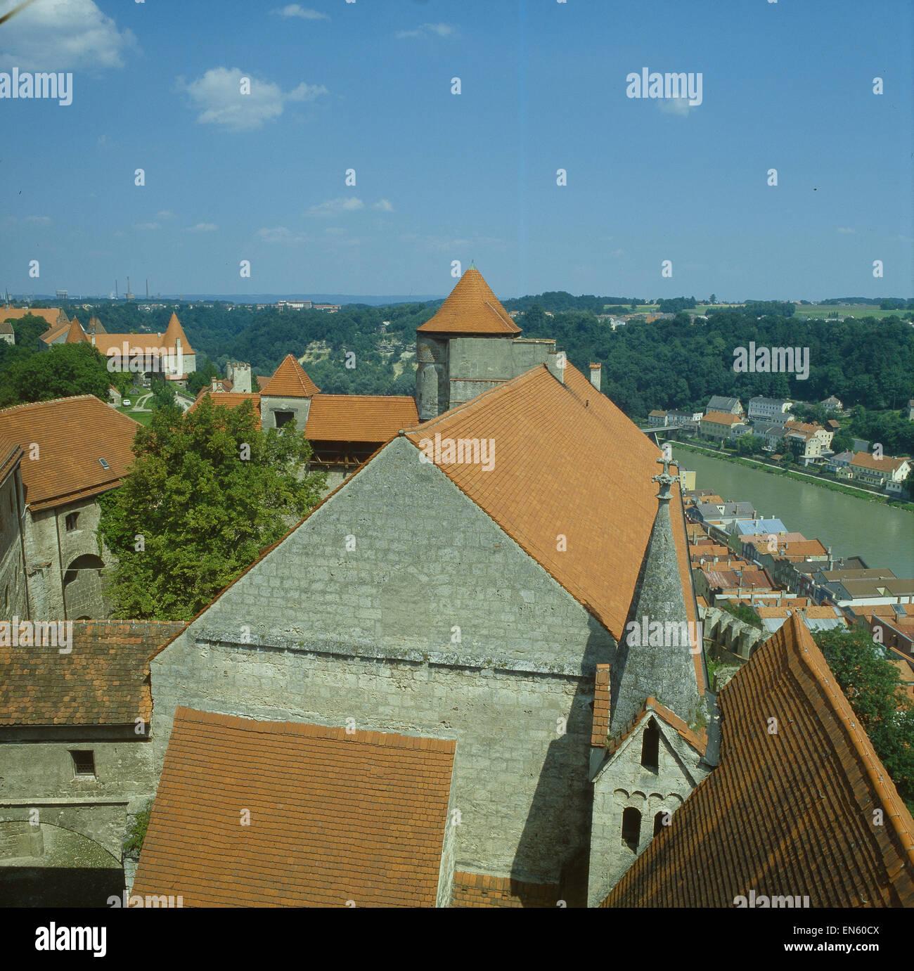 Deutschland, Bayern, Burghausen A.d. Salzach, Burganlage (Teilansicht) Stockbild
