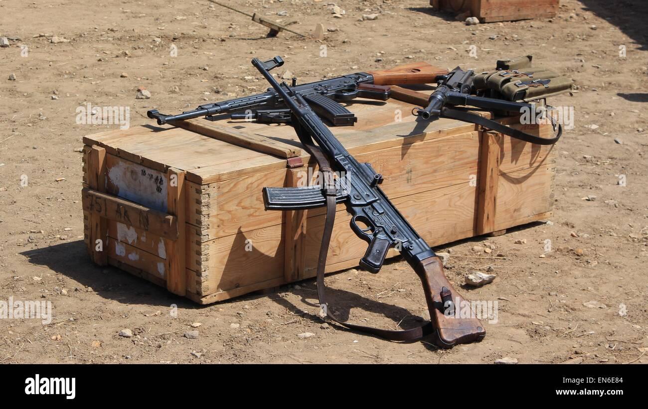 Deutsche Maschinengewehre Stockbild