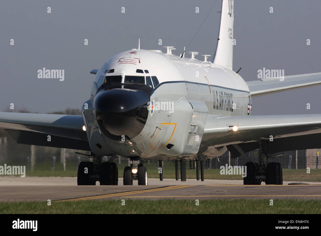 uns air Force USAF rc135w Rivet joint Stockbild