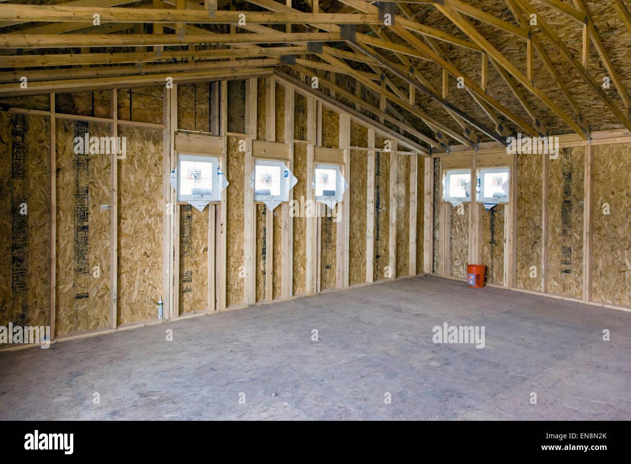 Innenwand, Gestaltung, Bau von Craftsman-Stil Wohnhaus in Colorado ...