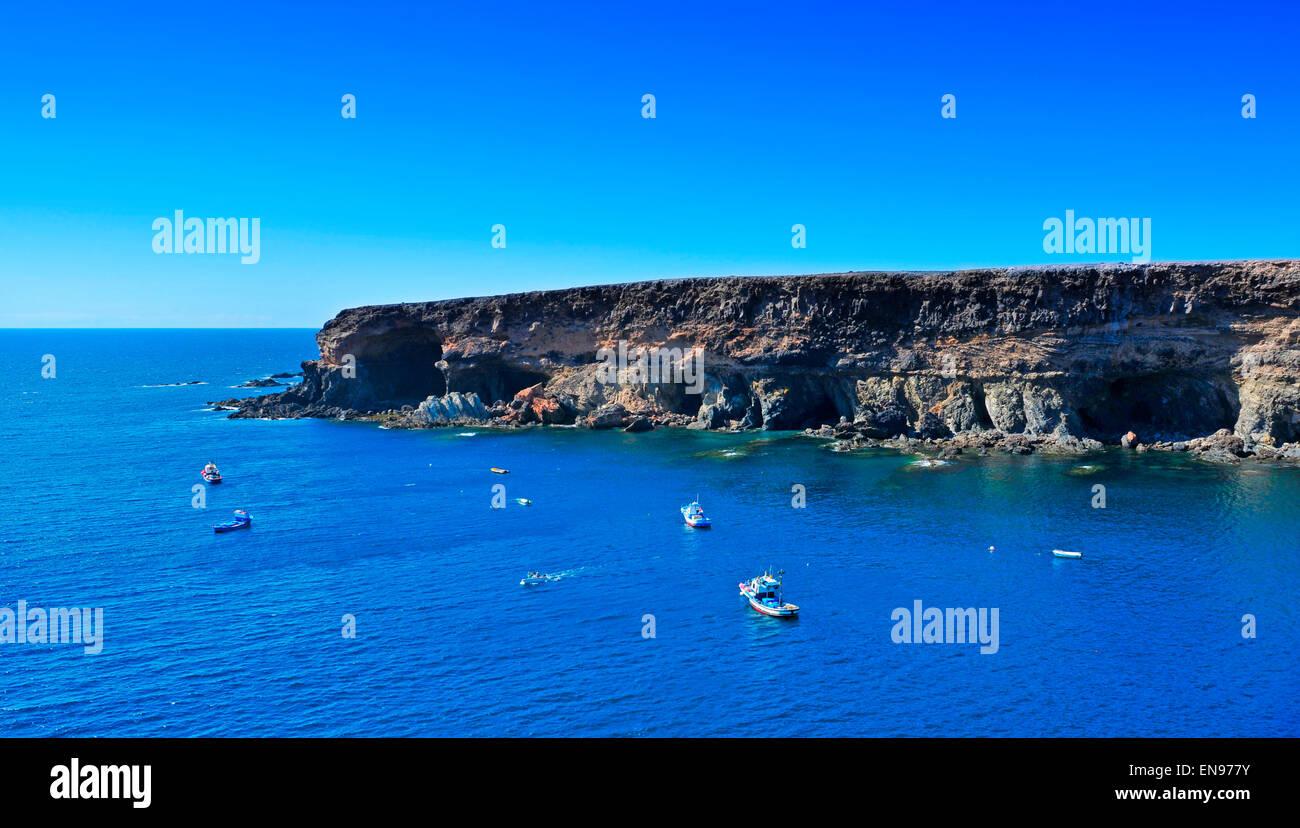 Höhlen in Ajuy, Fuerteventura, Kanarische Inseln, Spanien Stockbild