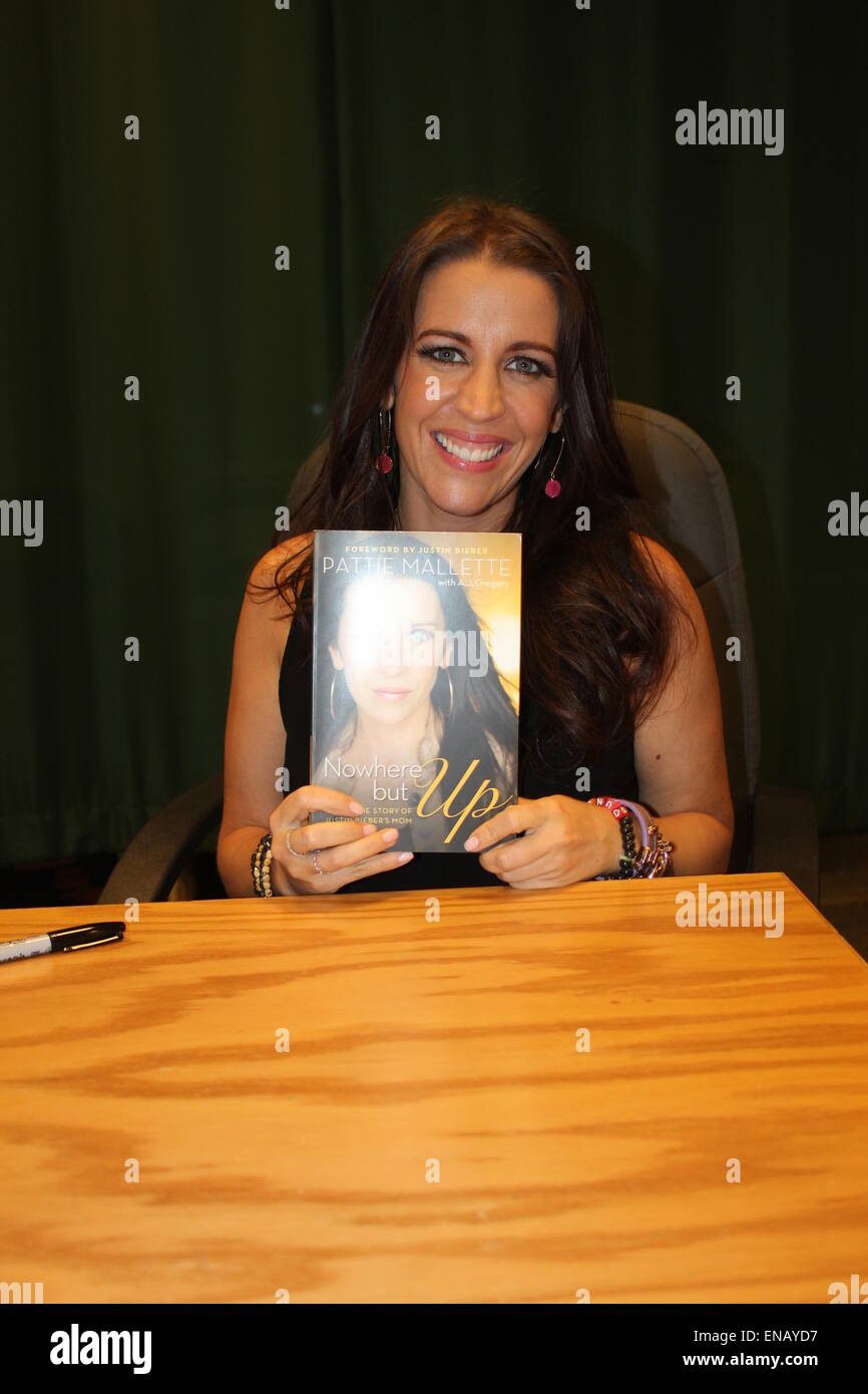 Pattie Mallette Unterzeichnung Exemplare ihres Buches in Glendale, Kalifornien Stockbild