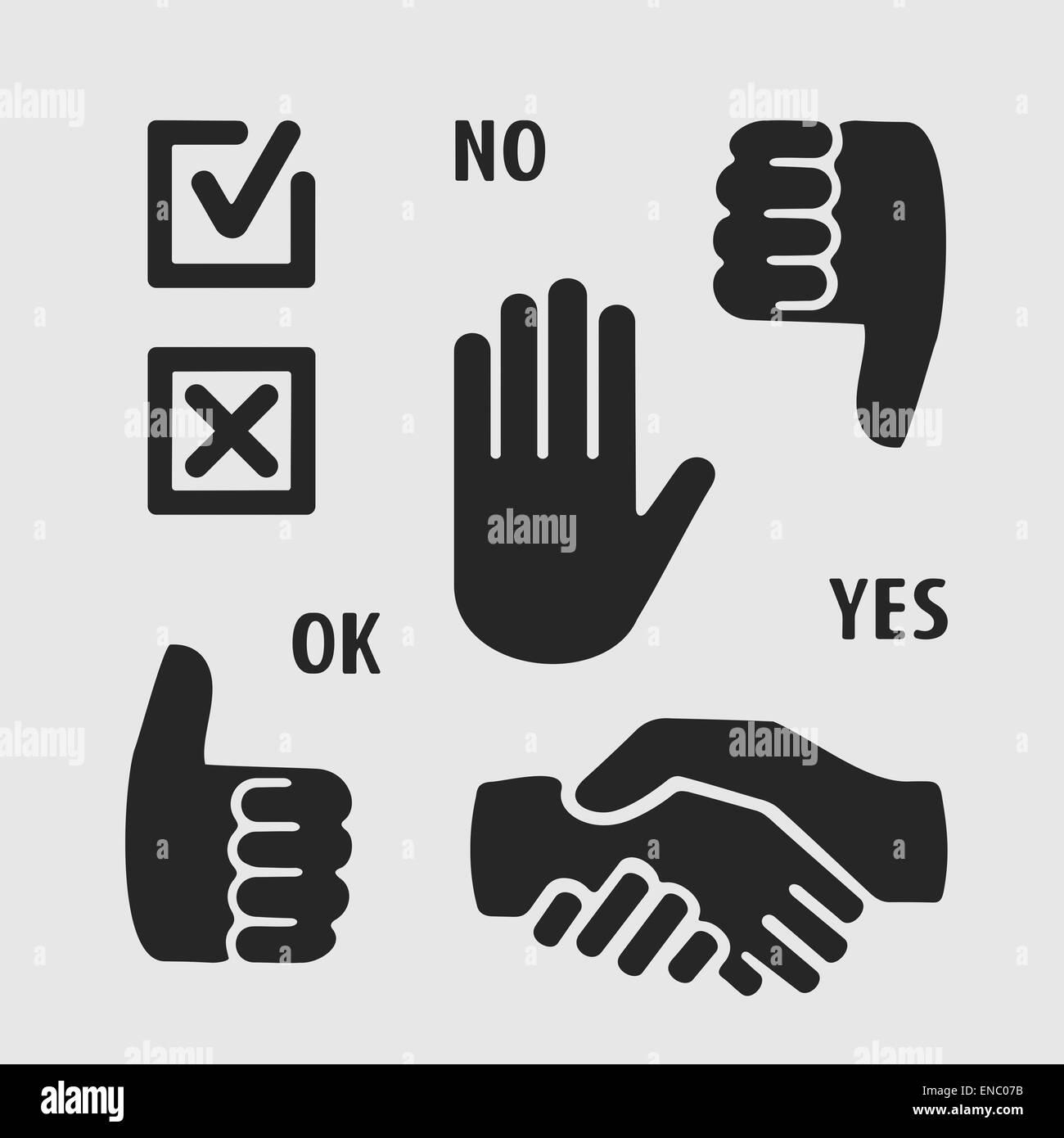 Ikonen-Hand Stockbild