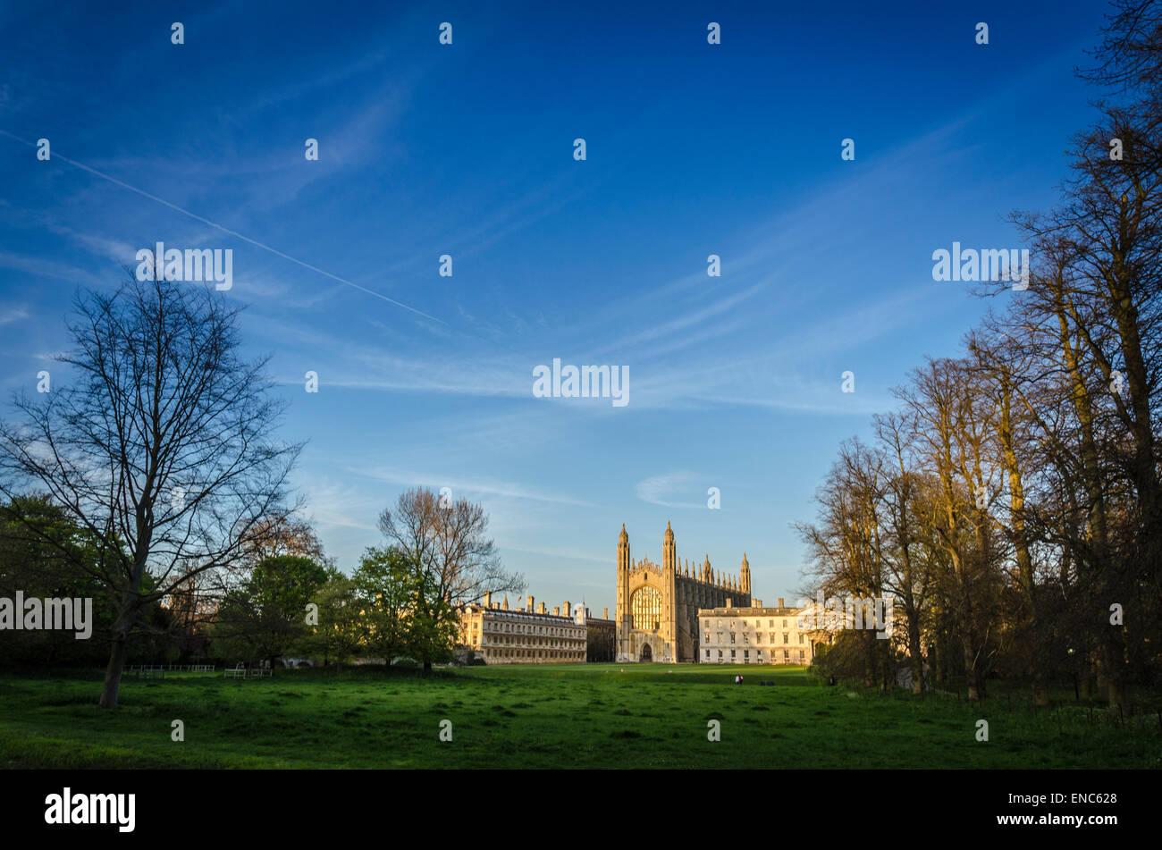 Kings College betrachtet aus dem Rücken, Cambridge Stockbild