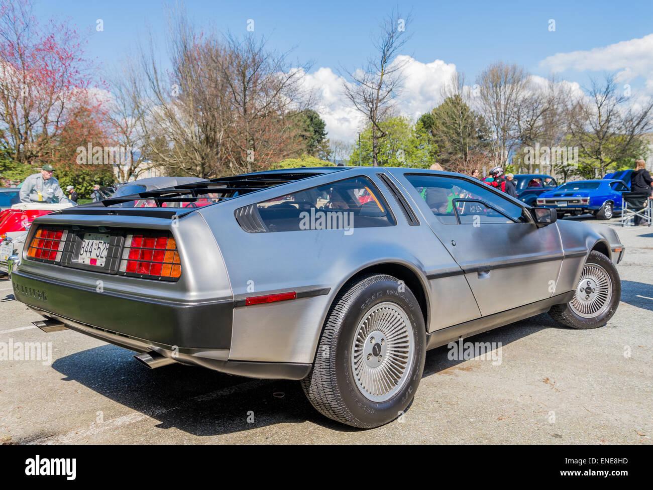 DeLorean Automobil Stockbild