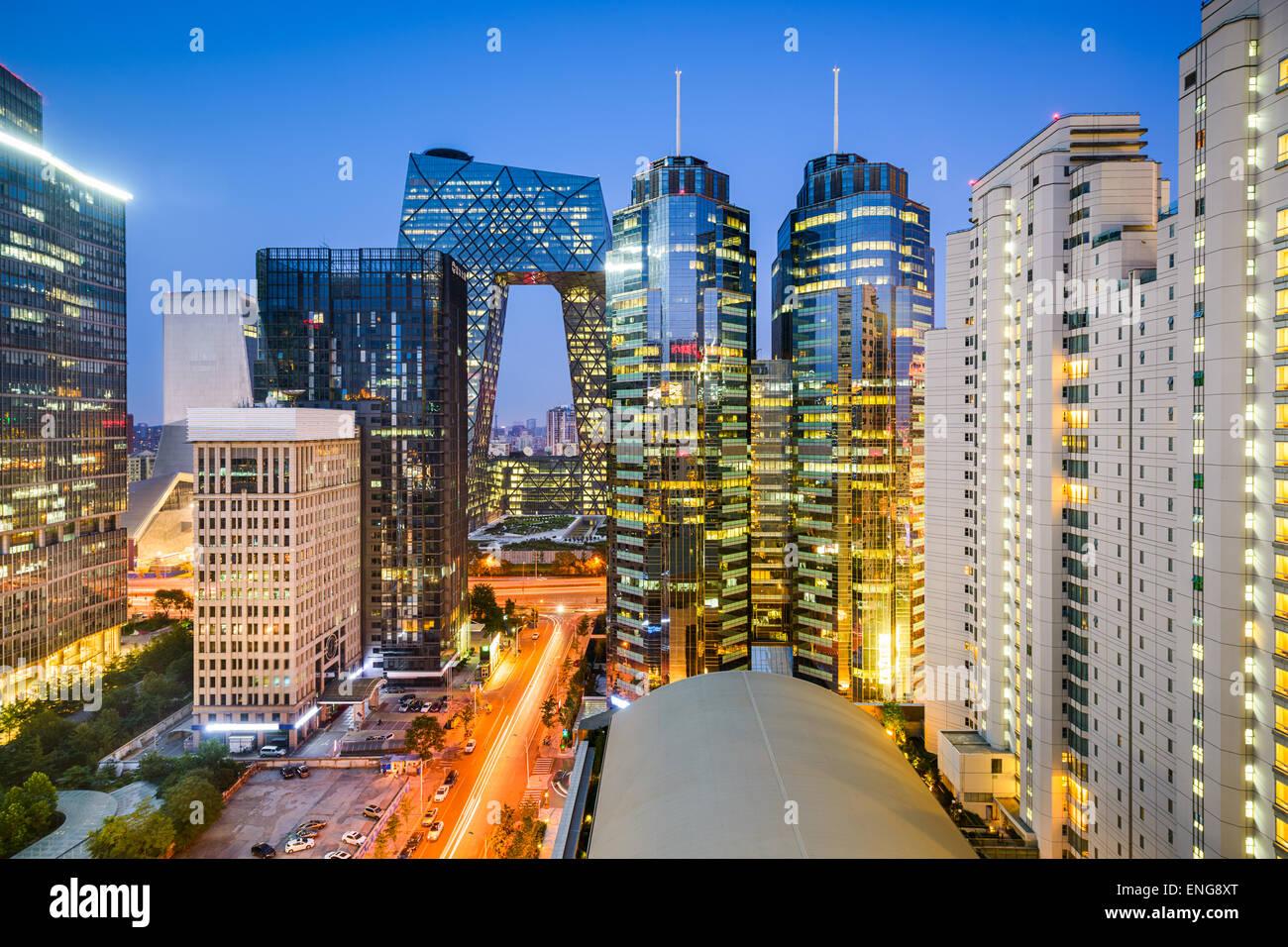 Peking, China Central Business District Stadtbild. Stockbild