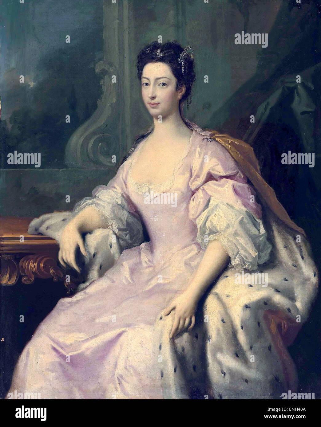 Prinzessin Caroline von Großbritannien Stockbild