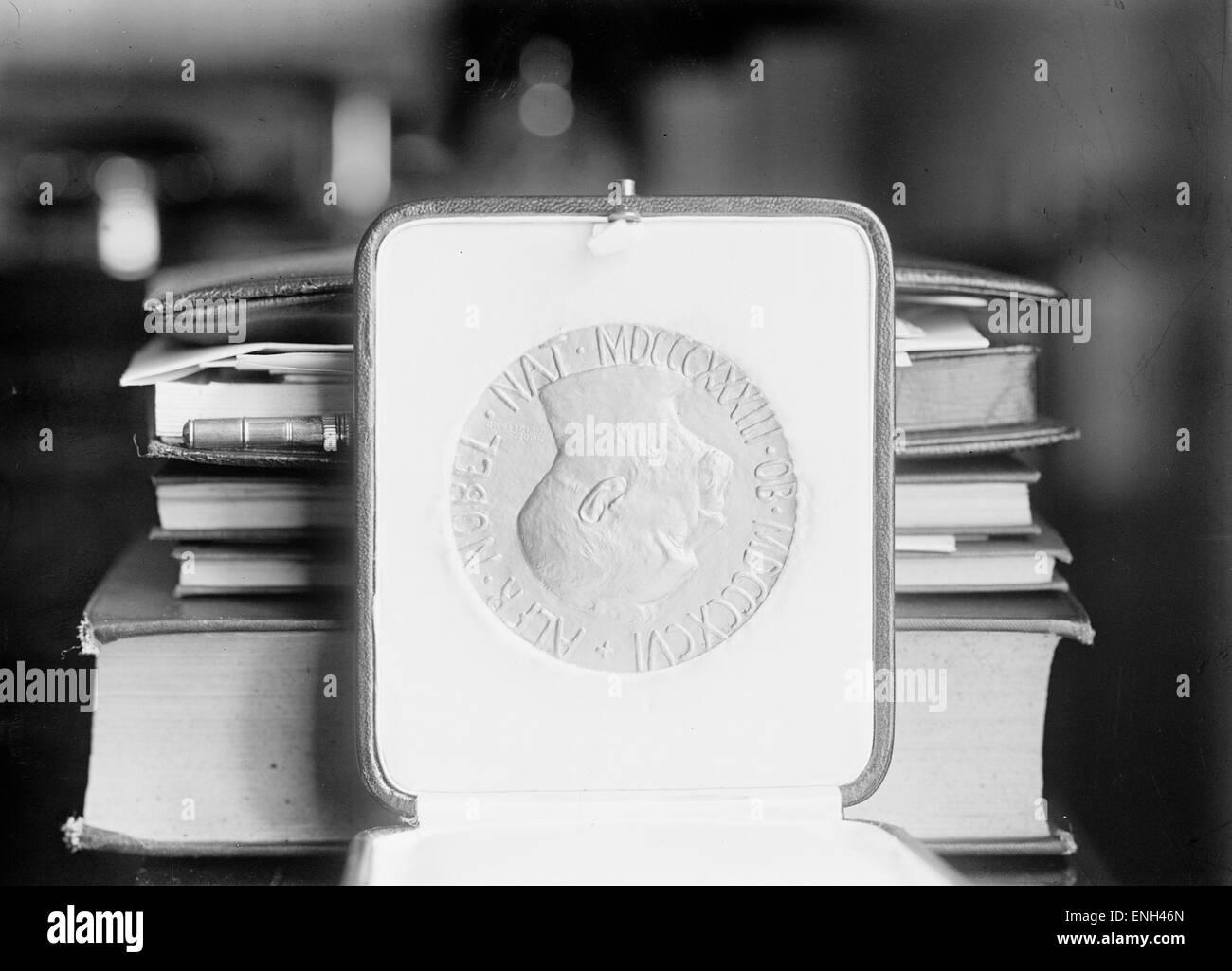 Friedens-Nobelpreis-Medaille. Stockbild