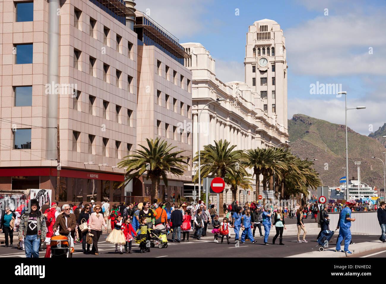 Palacio Insular de Tenerife, Santa Cruz De Tenerife, Teneriffa, Kanarische Inseln, Spanien, Europa Stockbild