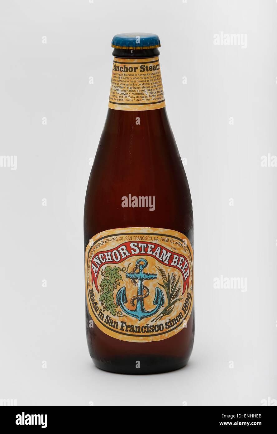 Anker-Dampf-Bier gebraut in San Francisco, Kalifornien, USA ...