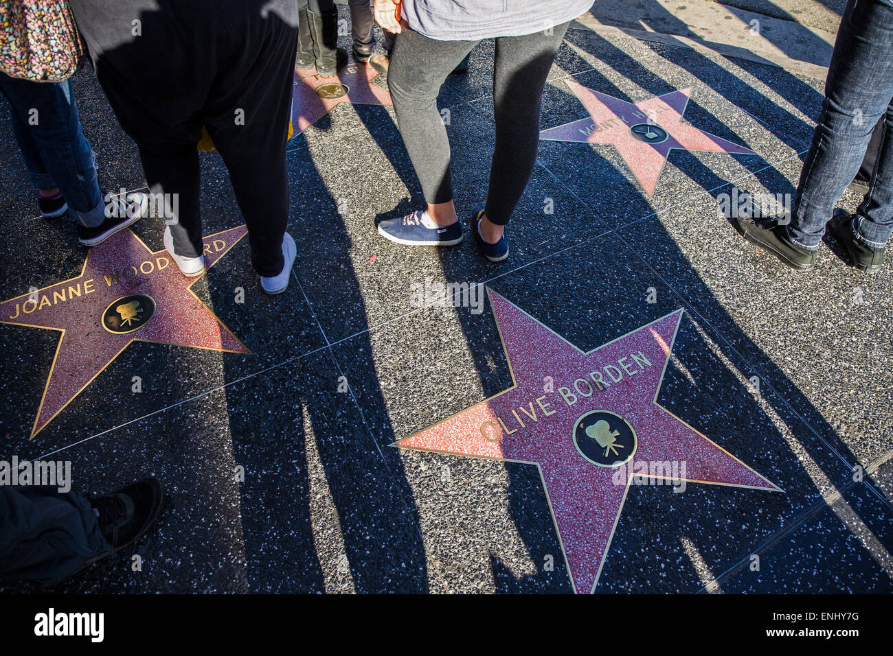 USA, California, Los Angeles, Hollywood Walk of Fame Stockbild
