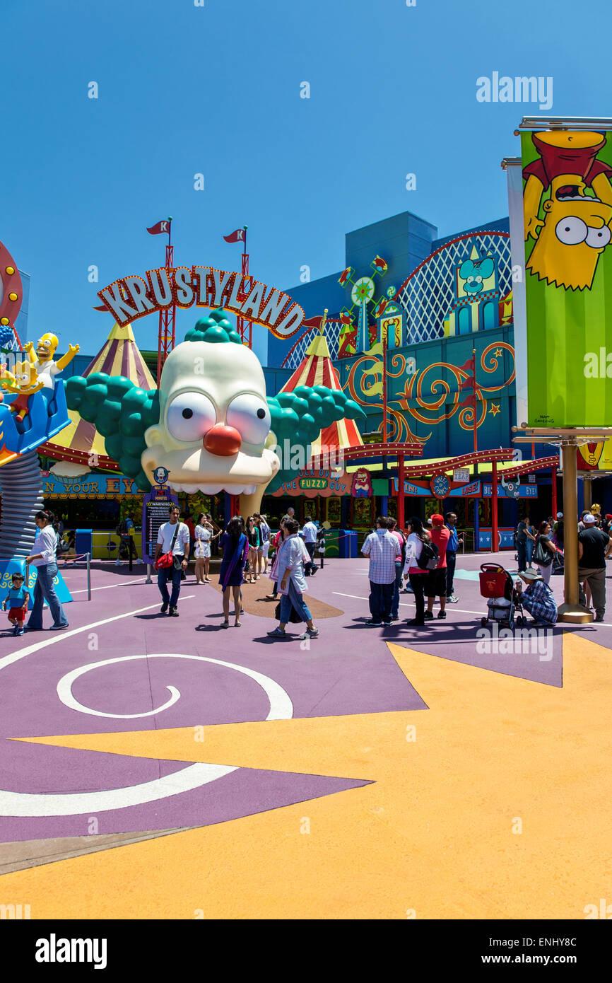 USA, California, Los Angeles, Hollywood, Universal Studios Entertainment-Center Stockbild