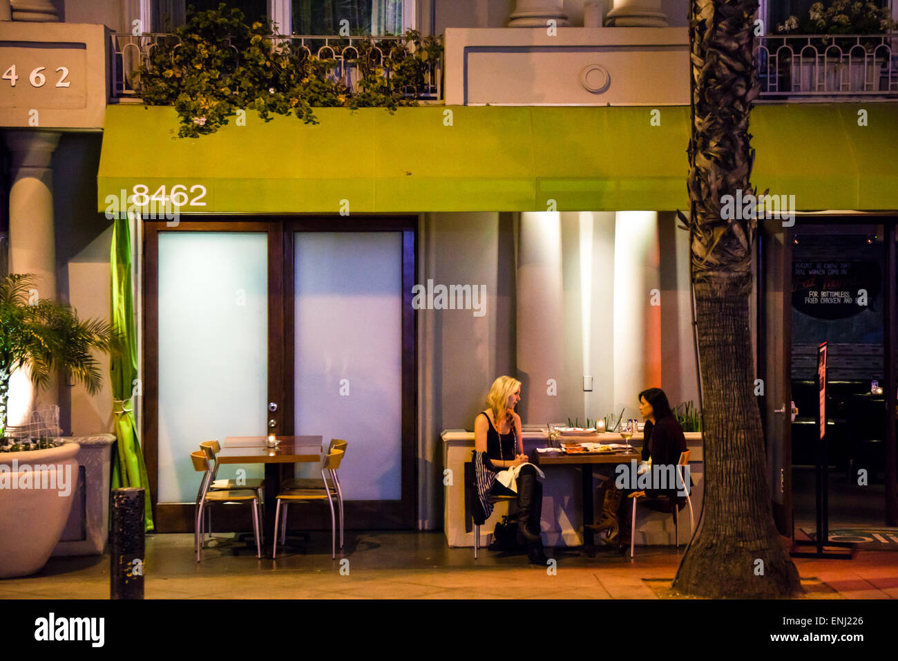 USA, California, Los Angeles, Nachtleben in Sunset Strip Stockbild