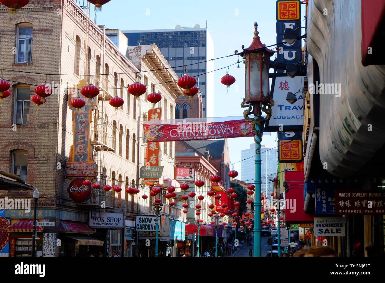 Chinatown, San Francisco, Kalifornien, USA Stockfoto