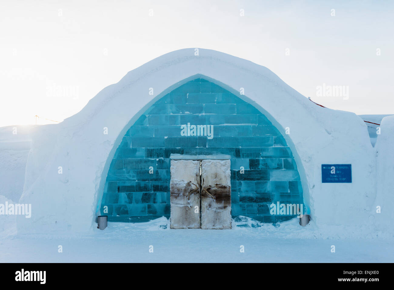 eis hotel kiruna lappland arctic circle schweden skandinavien europa stockfoto bild. Black Bedroom Furniture Sets. Home Design Ideas