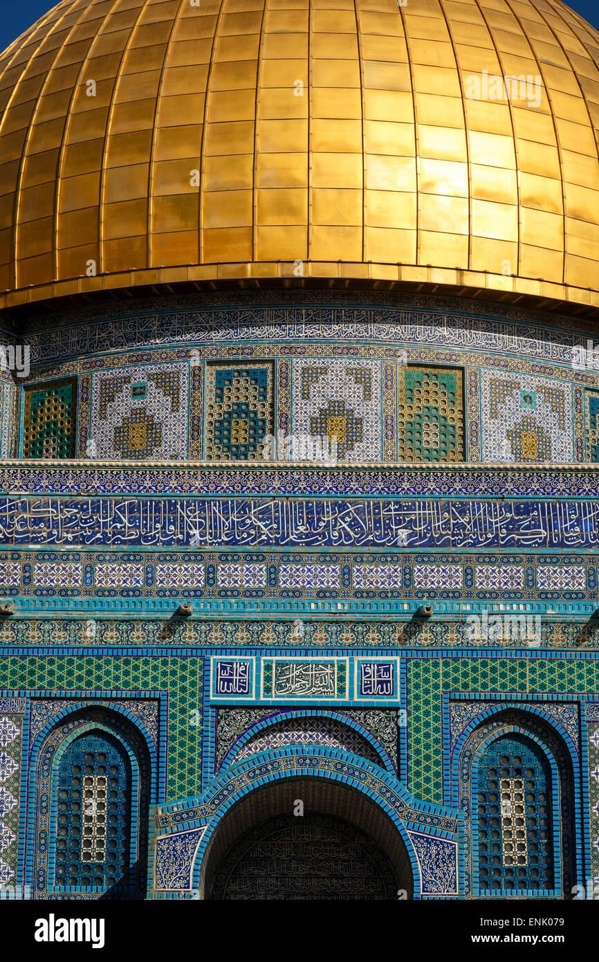 Kuppel des Rock Moschee, Tempelberg, UNESCO World Heritage Site, Jerusalem, Israel, Nahost Stockbild