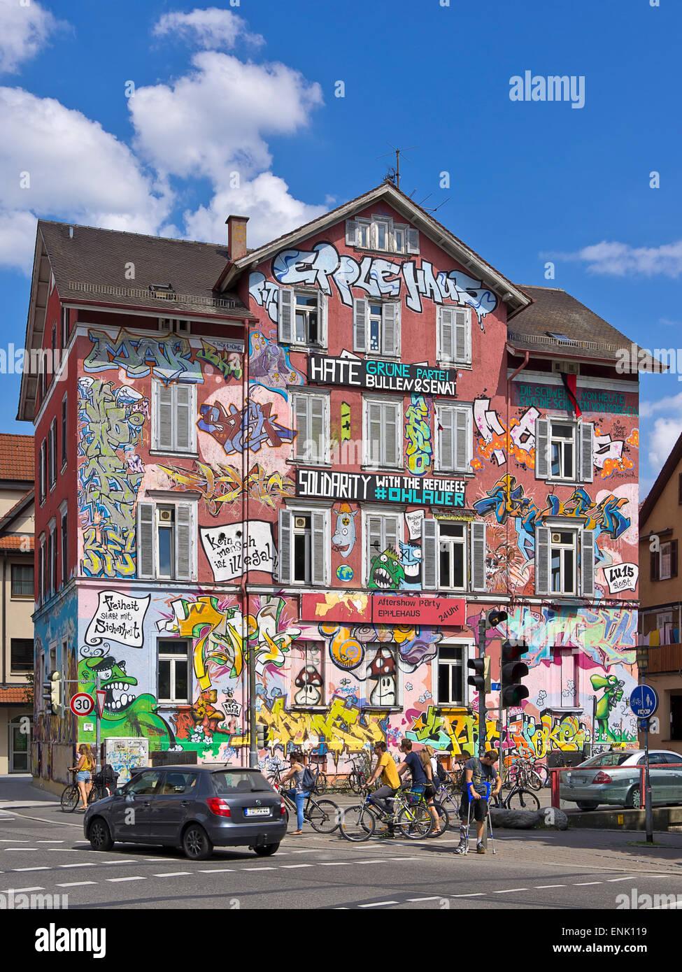 Das kurzfristig Haus in Tübingen Deutschland Stockfoto