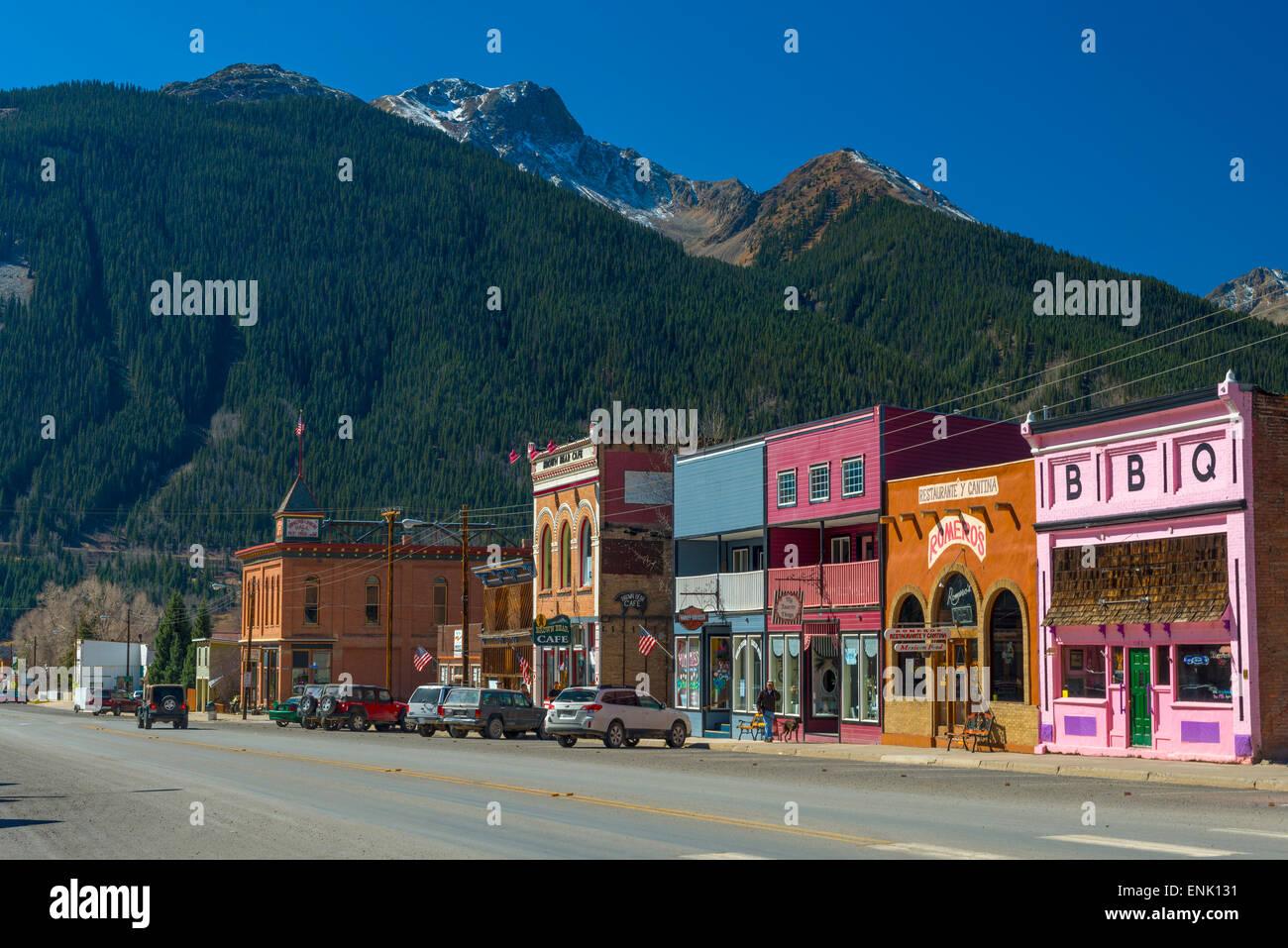 Silverton, Colorado, Vereinigte Staaten von Amerika, Nordamerika Stockbild