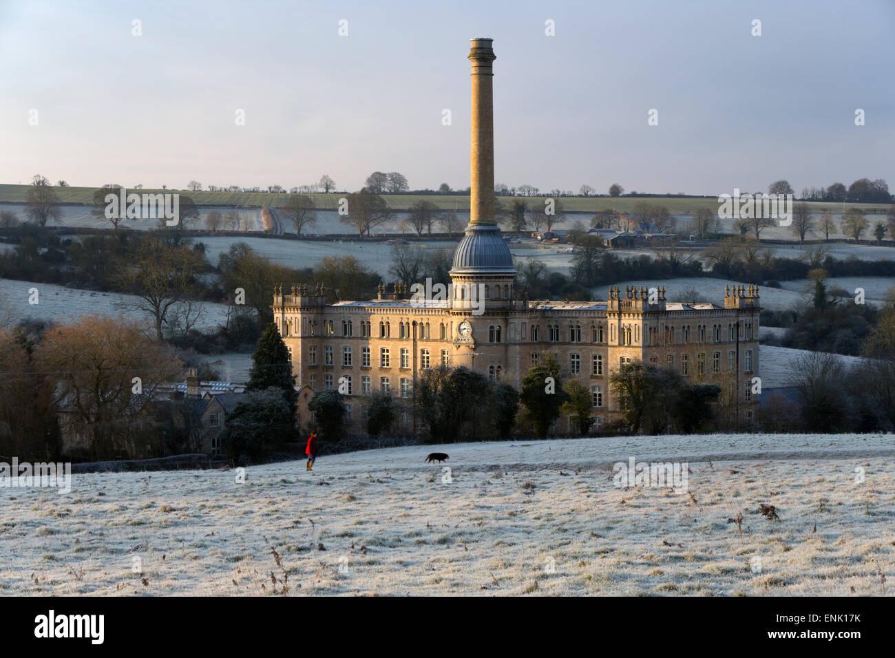 Bliss Mühle Morgen frost, Chipping Norton, Cotswolds, Oxfordshire, England, Vereinigtes Königreich, Europa Stockbild