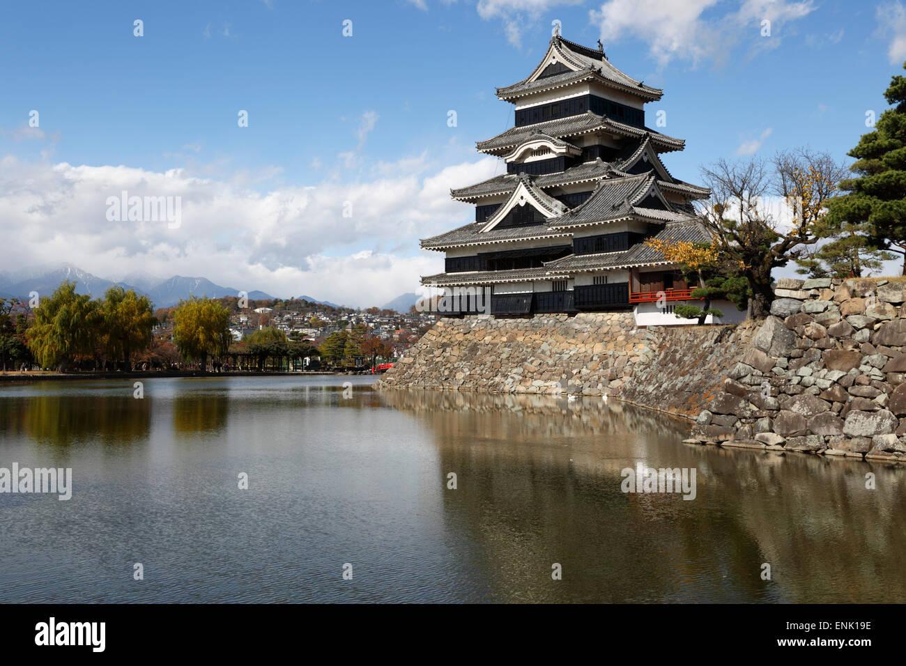 Matsumoto-Jo (hölzerne Burg), Matsumoto, zentralen Honshu, Japan, Asien Stockbild