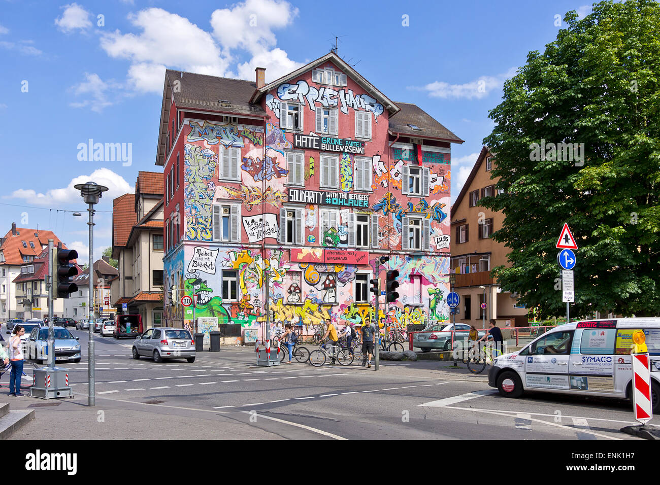 das kurzfristig haus in t bingen deutschland stockfoto bild 82167603 alamy. Black Bedroom Furniture Sets. Home Design Ideas