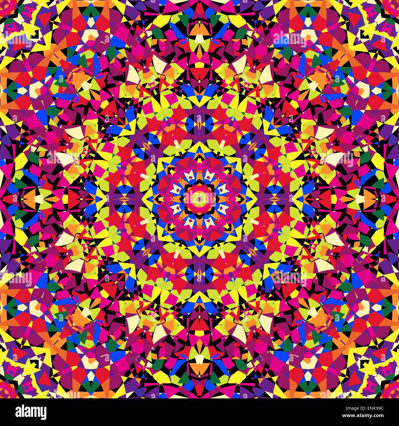 hellen Kaleidoskop Muster Stockbild