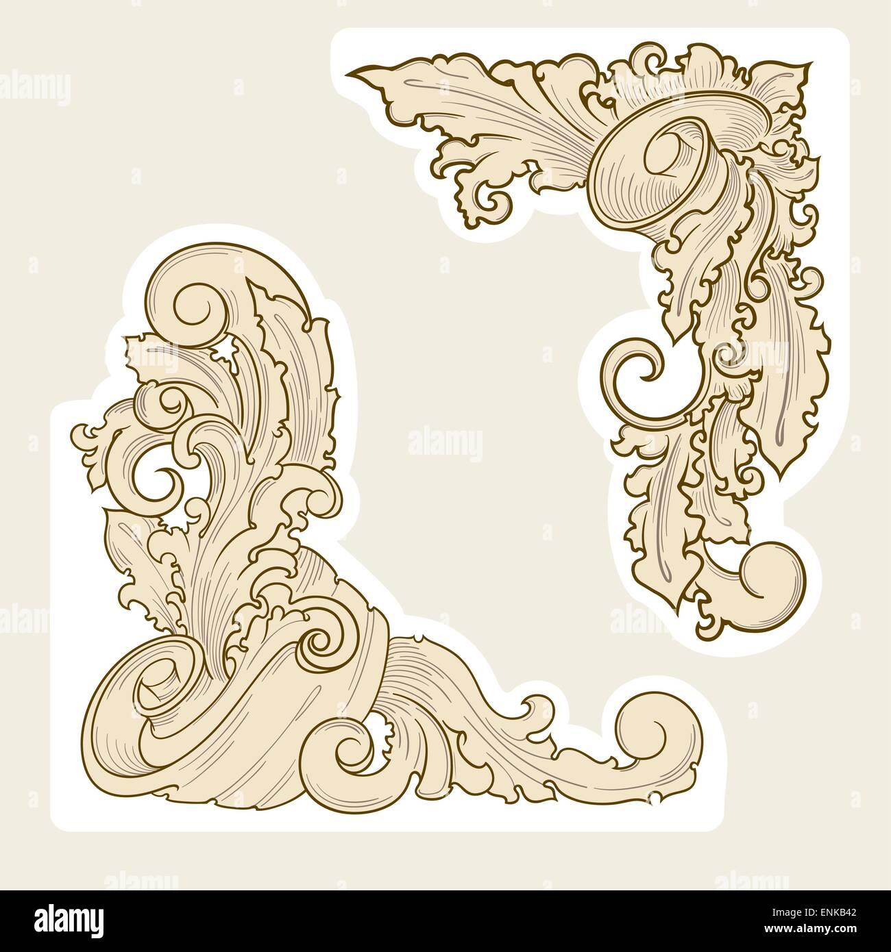 Alten Stil-Design-element Stockbild