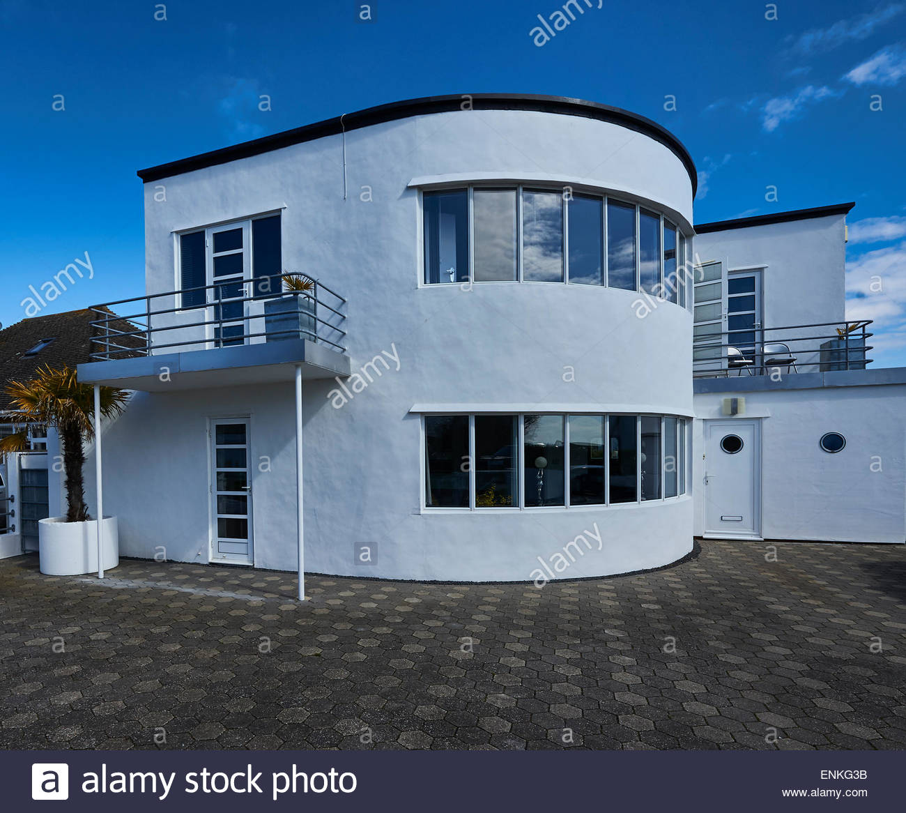 Ein Art Deco Haus Am Frinton On Sea, Essex Stockbild