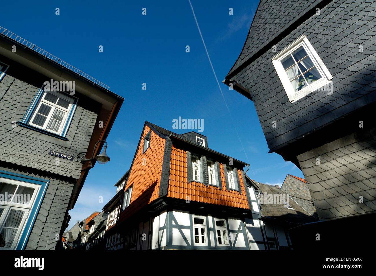 UNESCO-Welterbestätte Altstadt Goslar Altstadt Stockbild