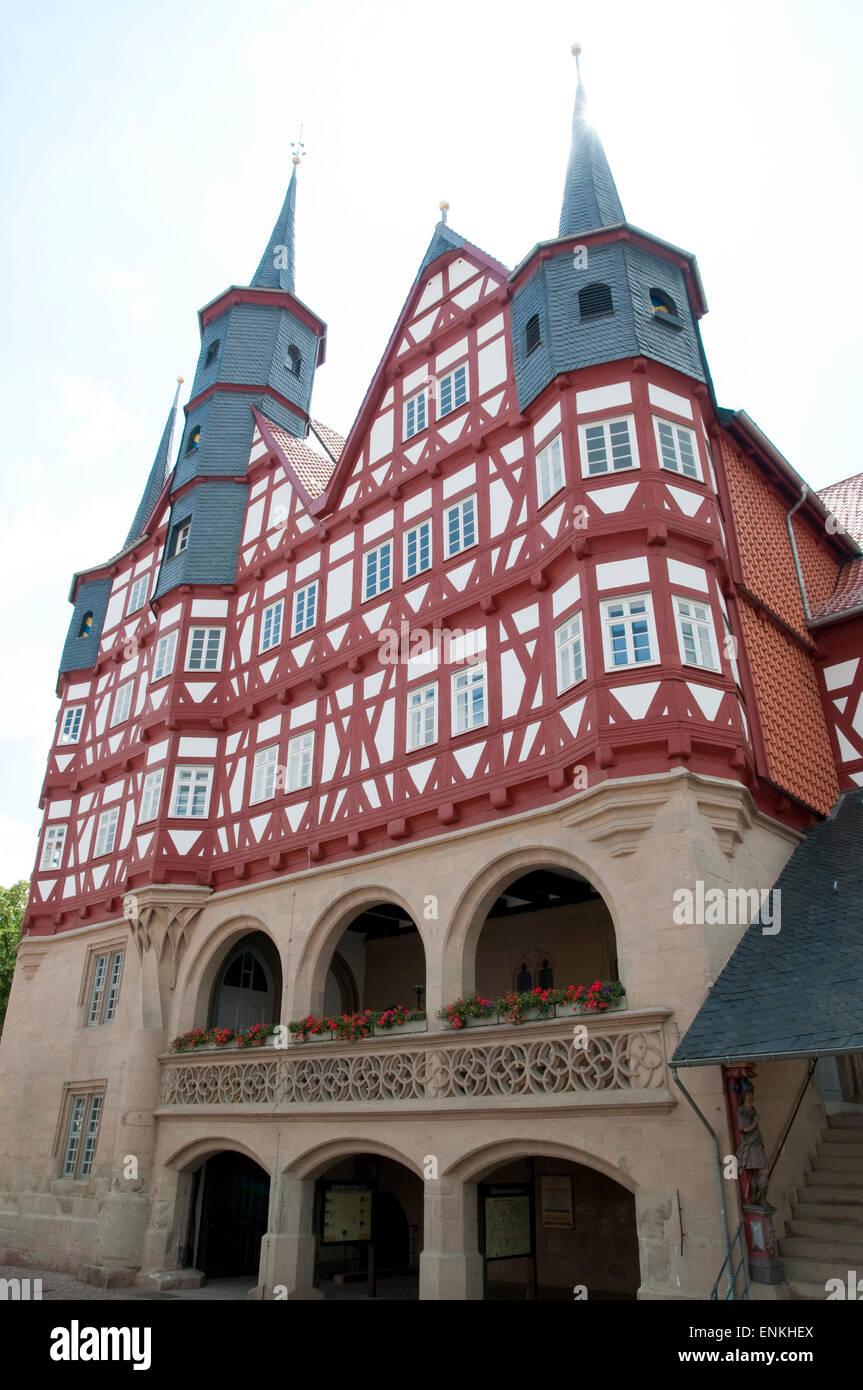 Rathaus, Duderstadt, Niedersachsen, Deutschland |  Guidhall, Duderstadt, Niedersachsen, Deutschland Stockbild