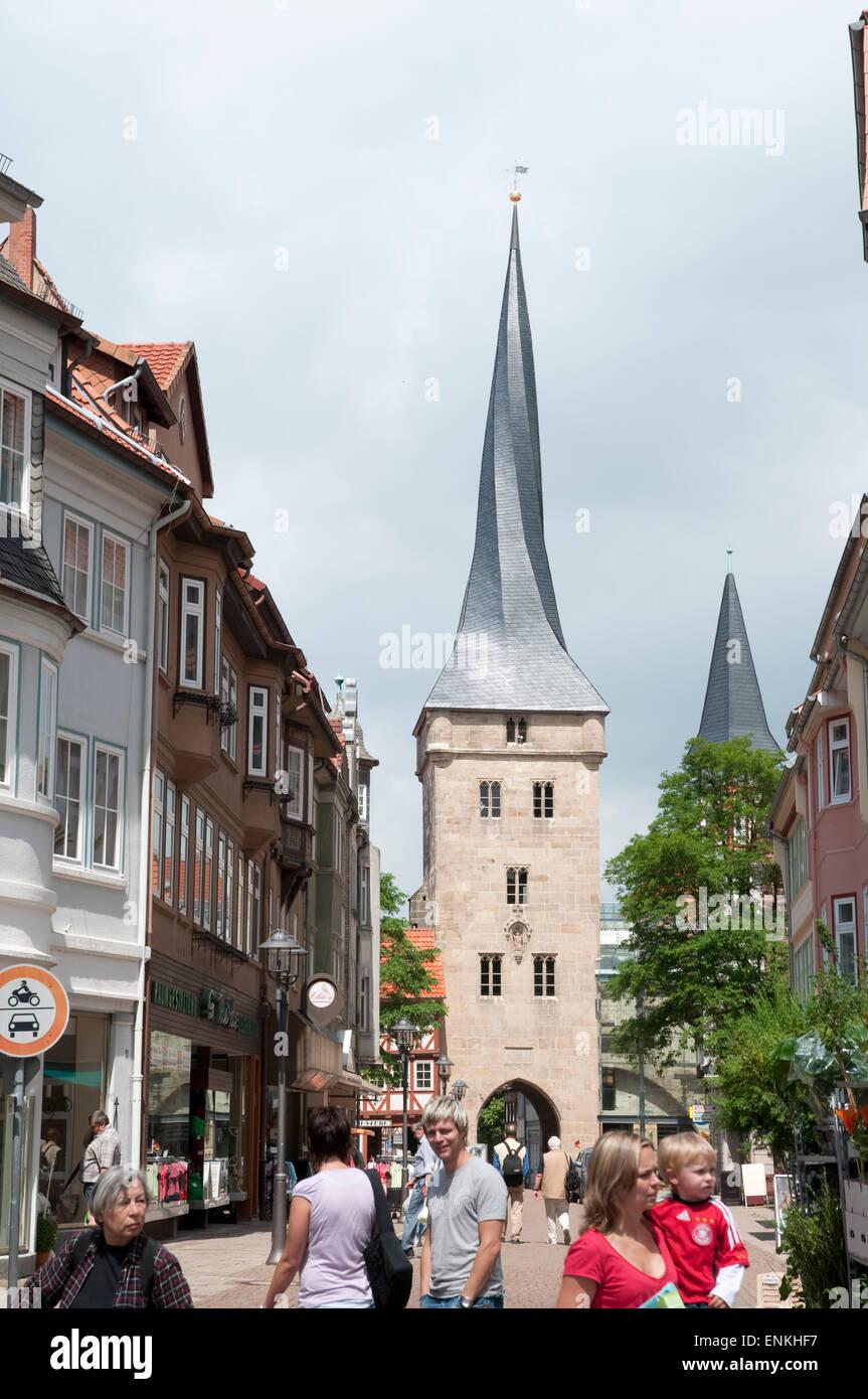 Westerturm Duderstadt, Niedersachsen, Deutschland |  Westturm, Duderstadt, Niedersachsen, Deutschland Stockbild