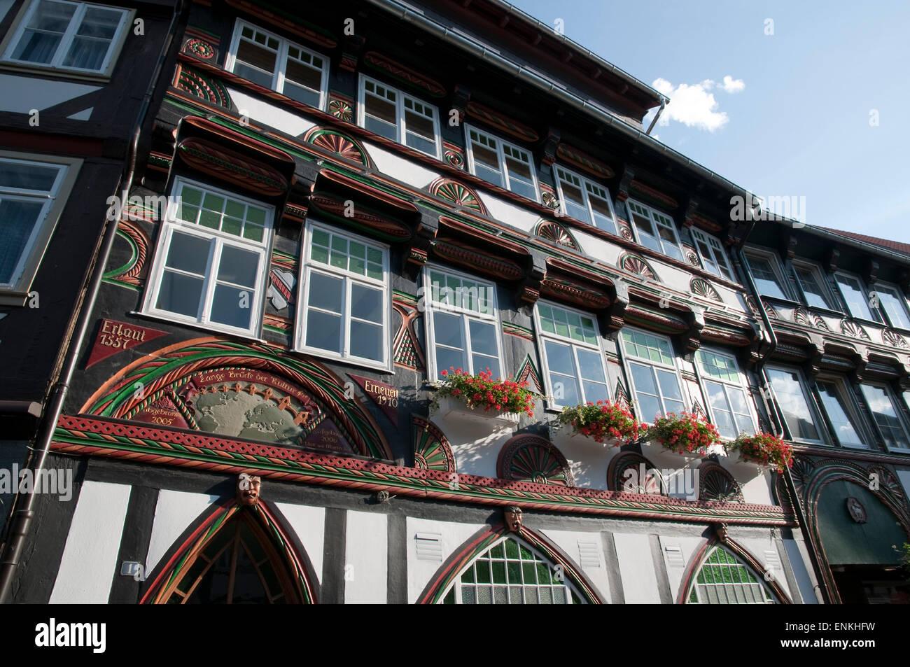 Fachwerkhaus, Einbeck, Niedersachsen, Deutschland |  Fachwerk Haus, Niedersachsen, Deutschland Stockbild