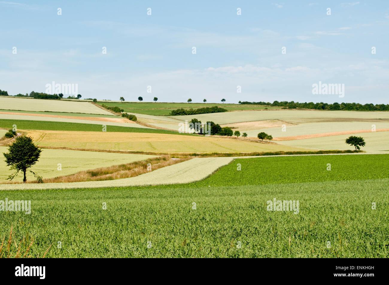Weserbergland-Landschaft, niedrigere Sachsen, Deutschland Stockbild