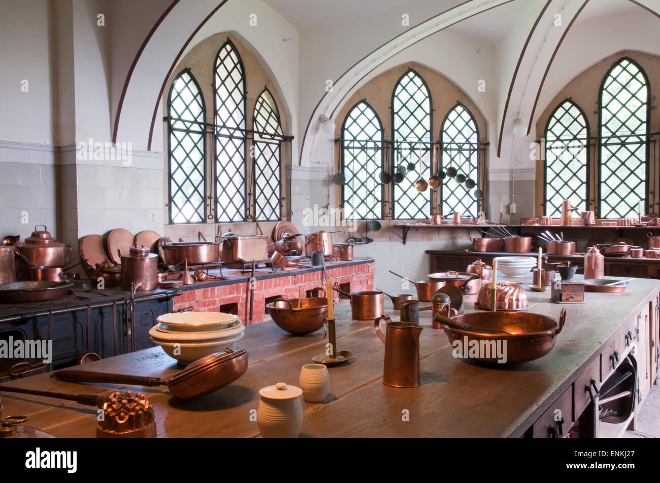 Küche, Schloss Marienburg in der Nähe von Hildesheim, Niedersachsen, Deutschland Stockbild