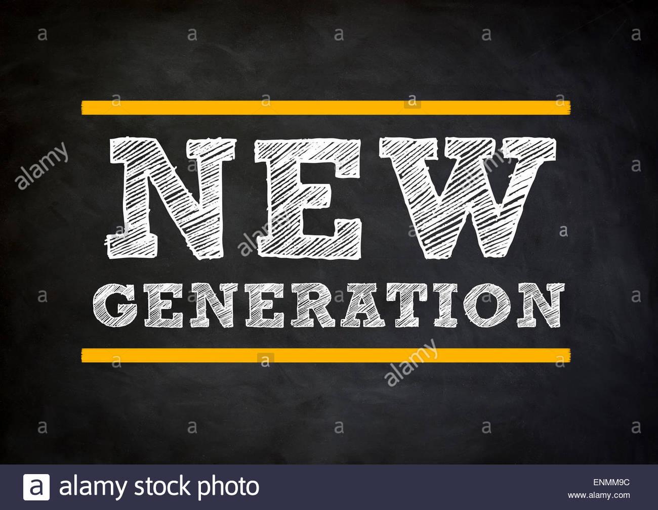 neue generation Stockbild