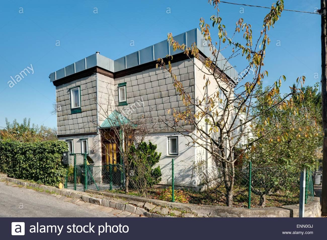 Wien, Wohnbau der Zwischenkriegszeit, Siedlung Heuberg Nach Einem Konzept von Adolf Loos, 1924 (In der Siedlung Stockbild
