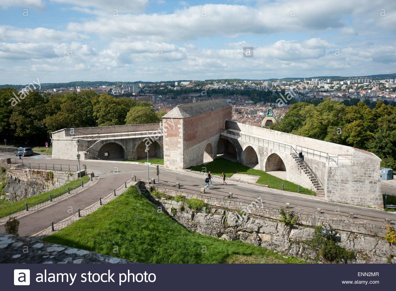 Besancon, Zitadelle, Blick Auf Die Stadt Stockbild