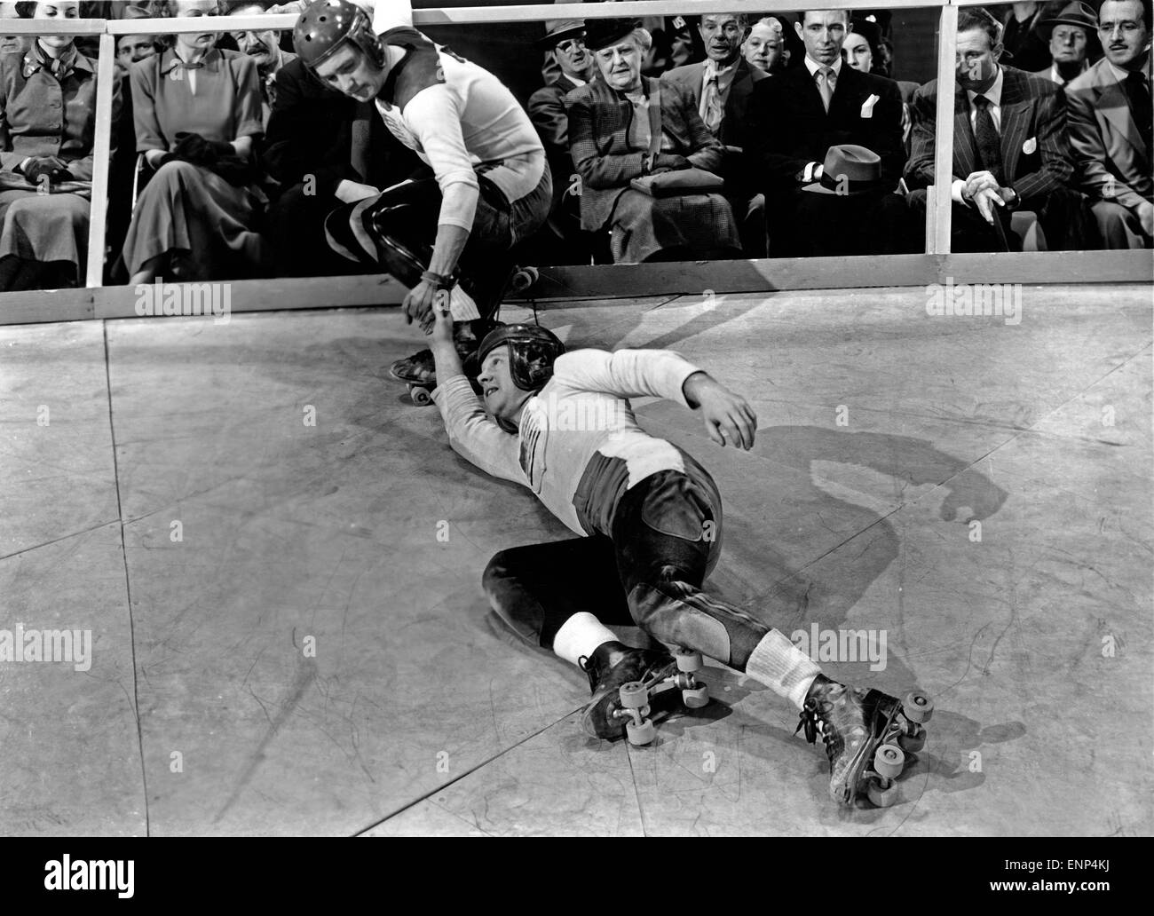 Der Feuerball, USA 1950, auch bekannt als: Rollschuhfieber, Regie: Tay Carnett, Monia: Mickey Rooney Stockfoto