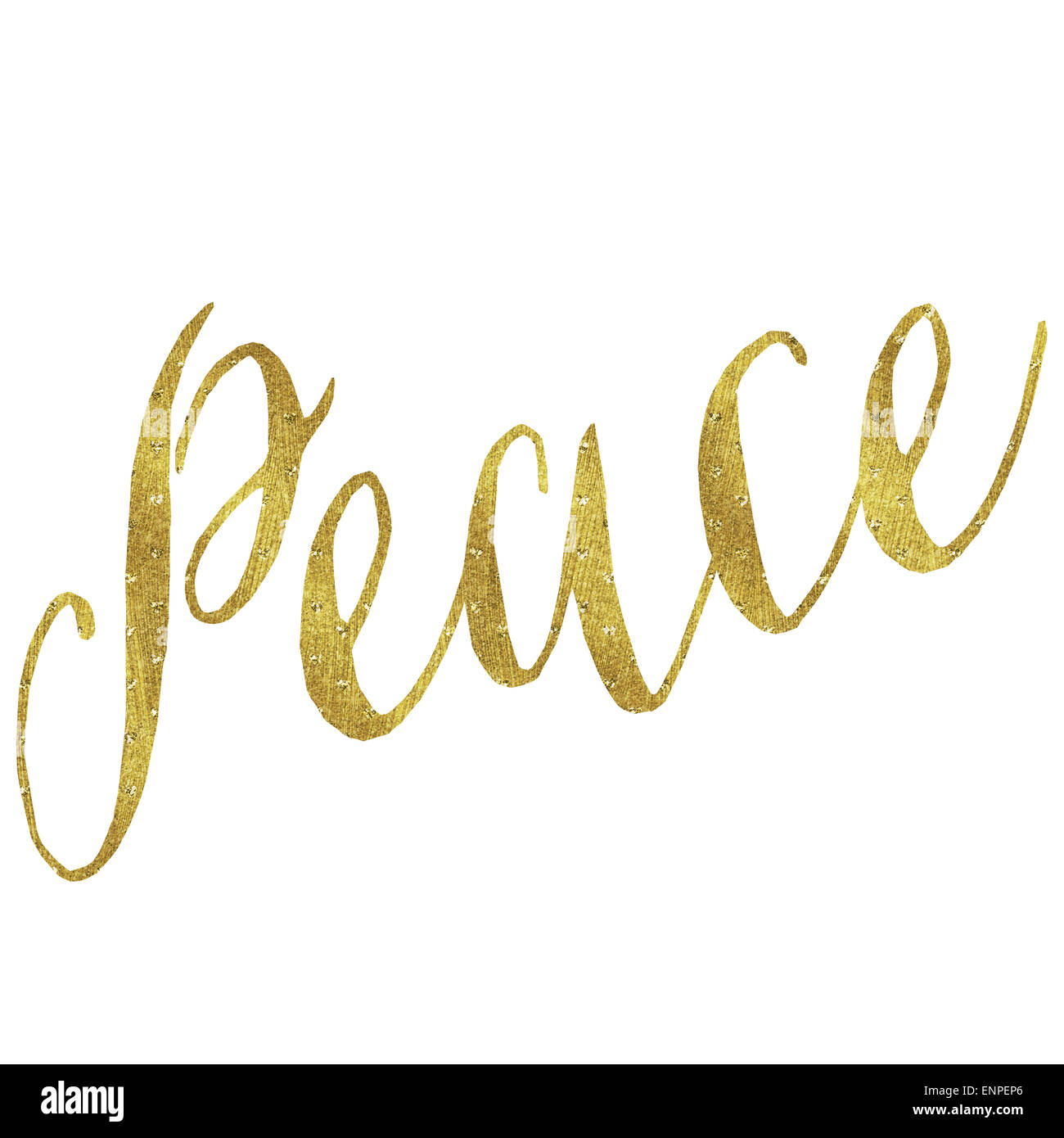 Faux Frieden Gold Folie Metallic Glitter inspirierende Weihnachten ...