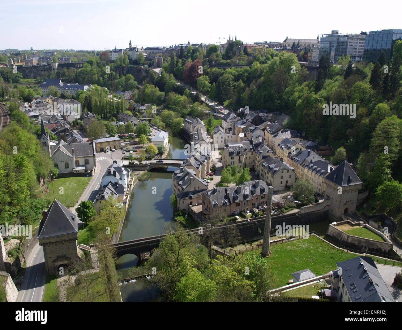 Ansicht der Stadt Luxemburg. Stockbild