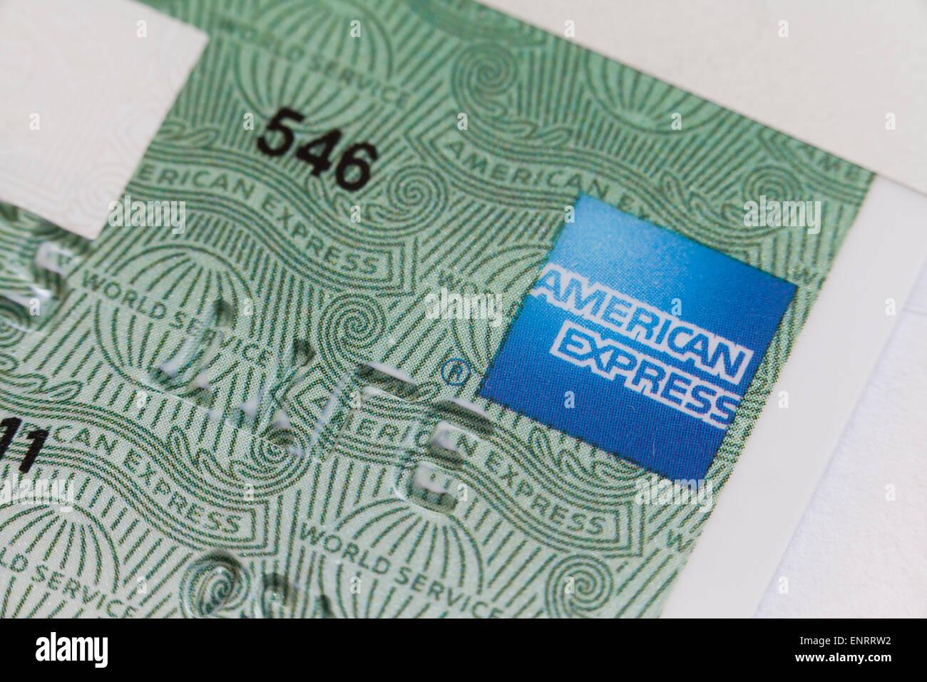 American Express Karte Closeup - USA Stockbild