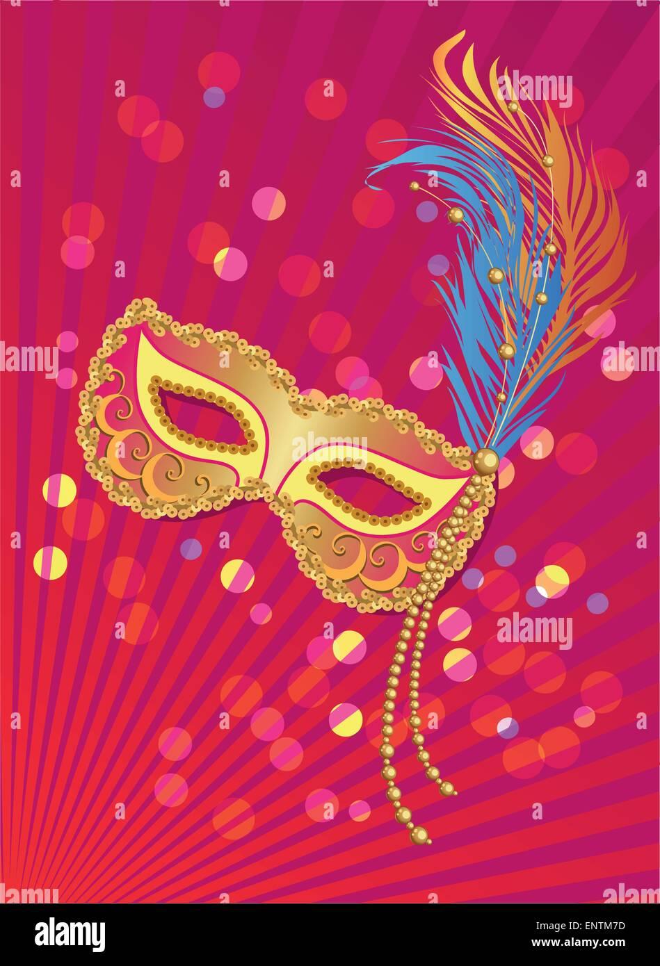 Karneval-Plakat. Faschingsdienstag. Karneval in Venedig-Banner ...